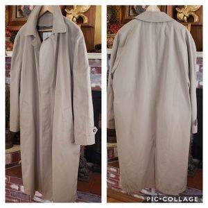 LONDON FOG MEN'S LINED BEIGE TRENCH COAT 44 LONG